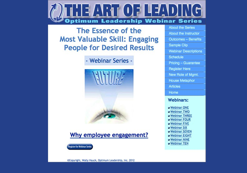 Art of Leading Home Page