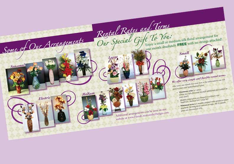 Floral Creations Brochure Center Spread
